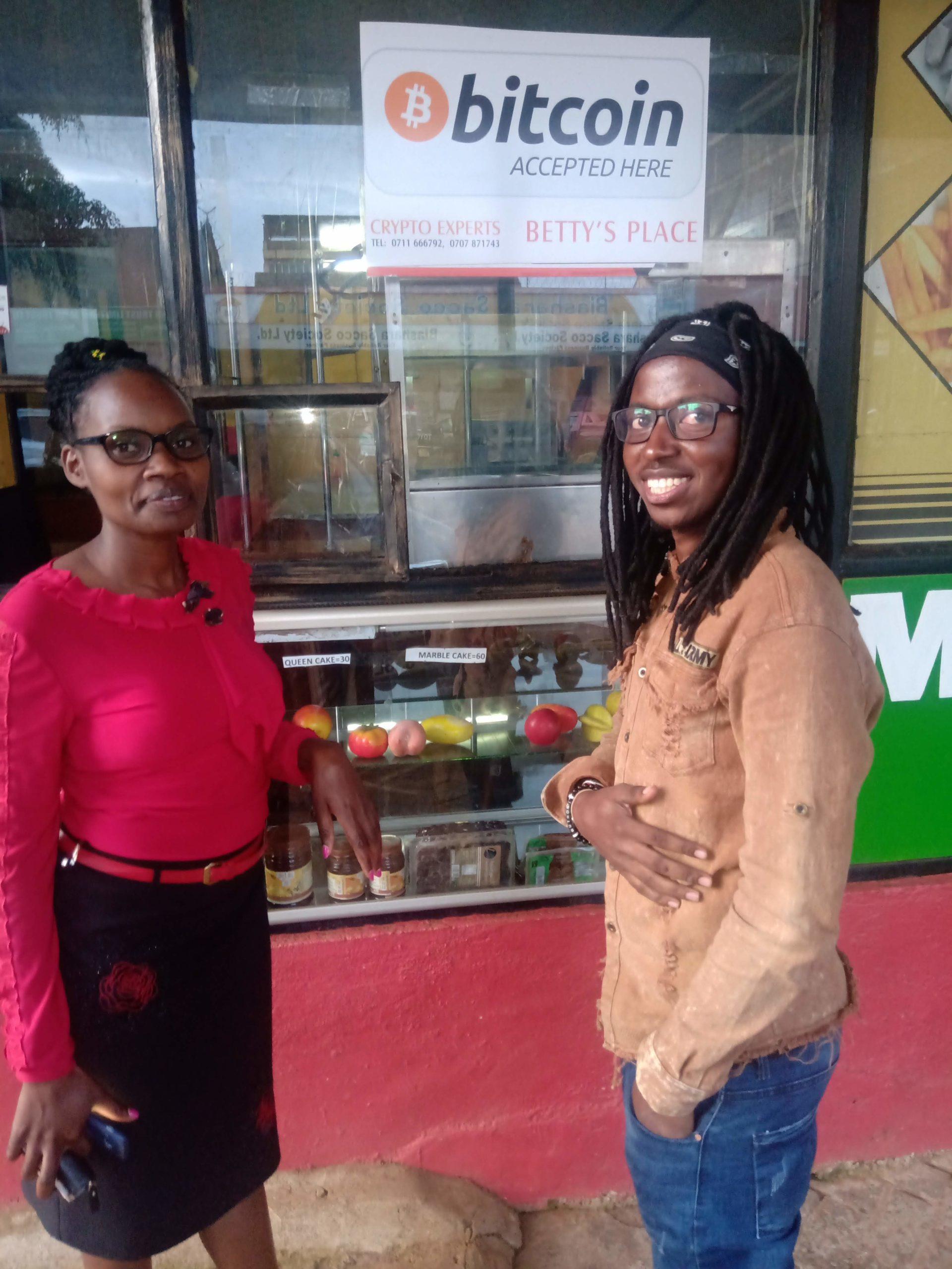 Betty Wanjiru and Steve Nsoh at Betty's Place