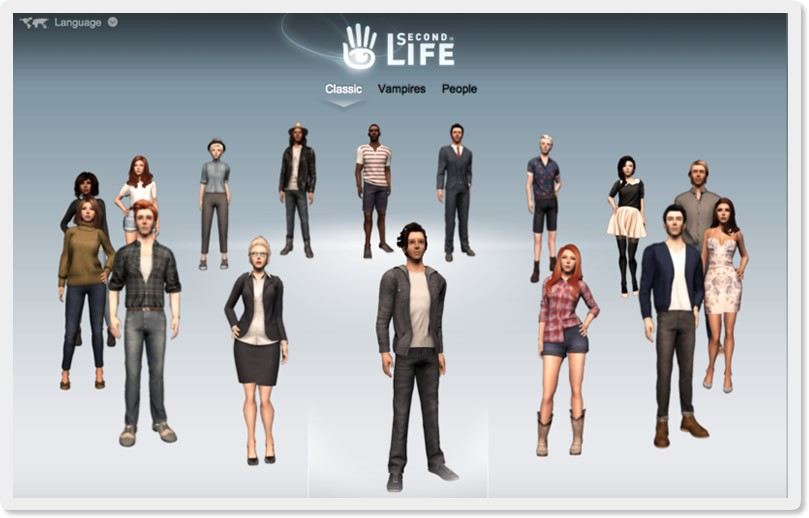 Second Life Starting Avatars