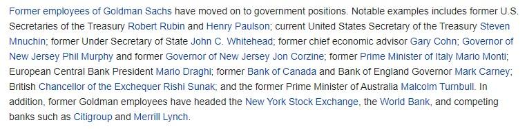 Goldman Sachs powerful employees