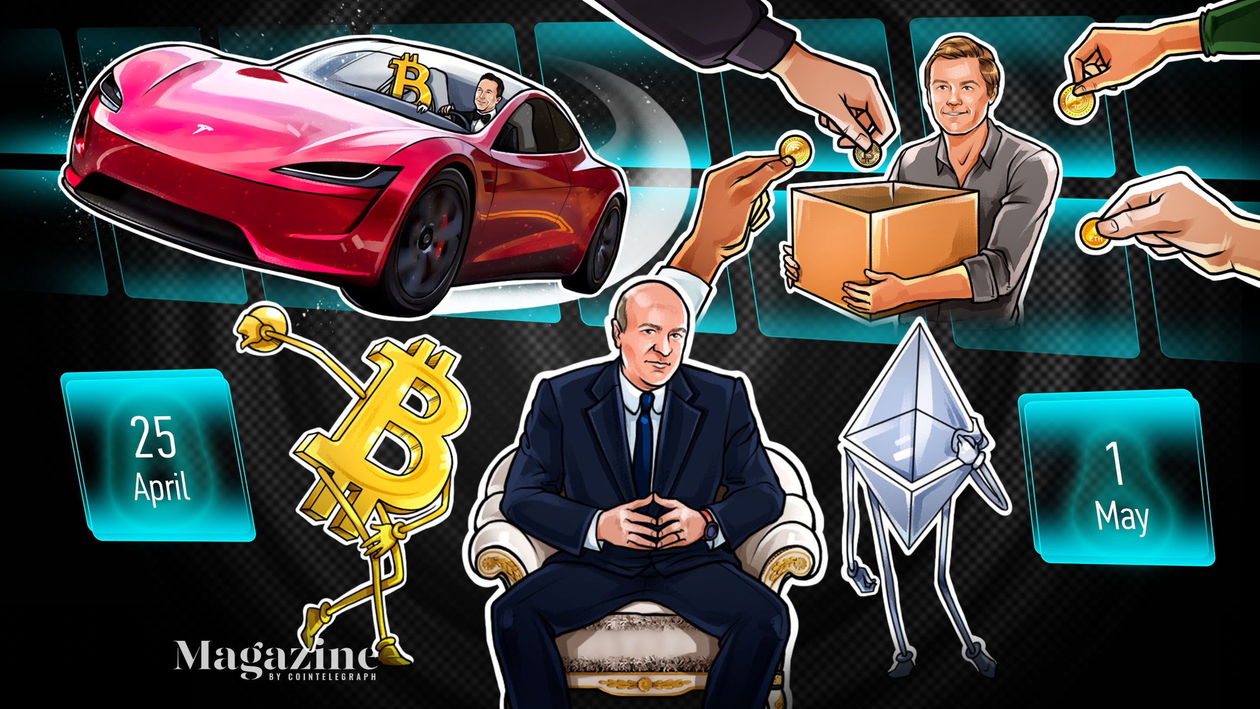Bitcoin's grim close, Tesla's crypto sell-offs, Ether's jaw-dropping surge: Hodler's Digest, April 25–May 1