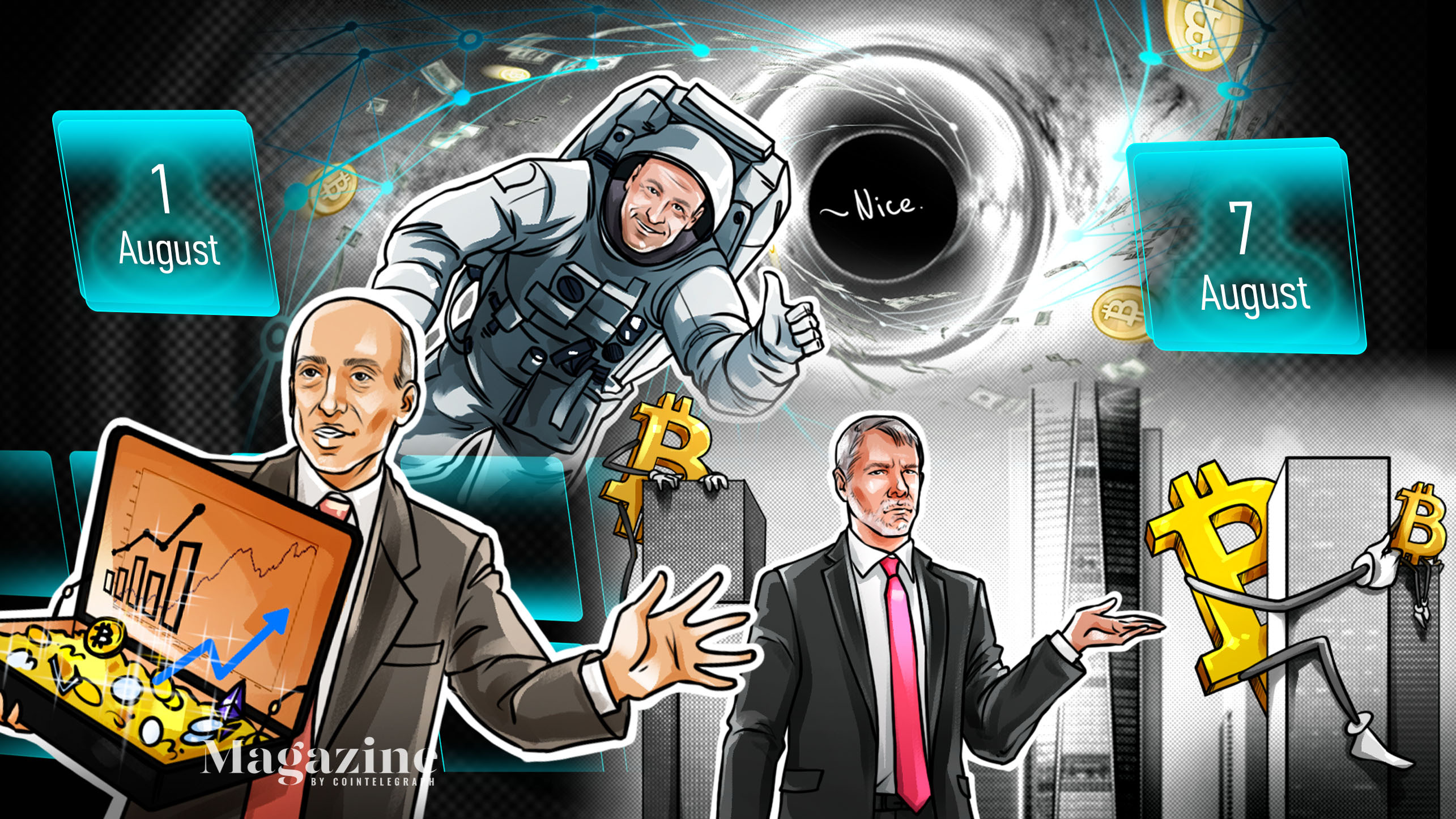 An Ethereum blockchain upgrade, crypto regulatory battles, and Bitcoin price discussion: Hodler's Digest, Aug. 1-7