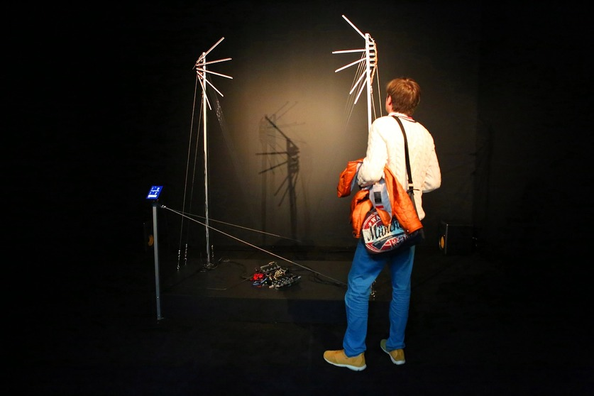 Silk, robotic sound installation