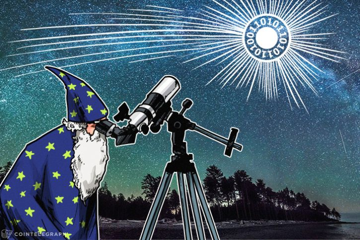 An astrologer watching over Bitcoin comet