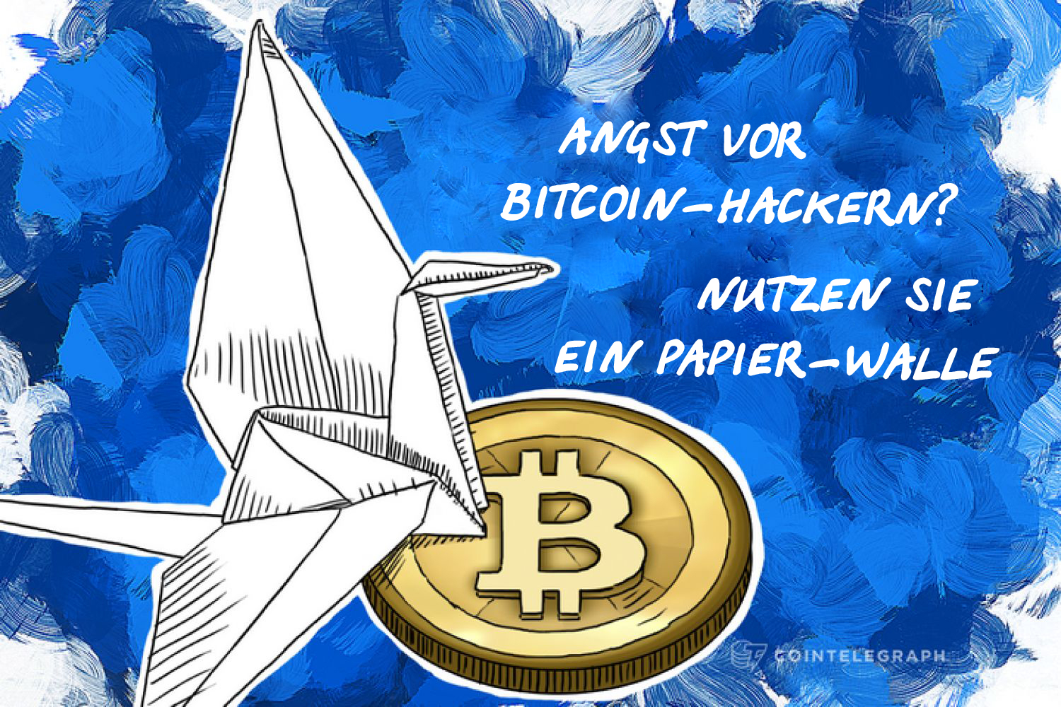 Bitcoin paper wallet as an origami crane