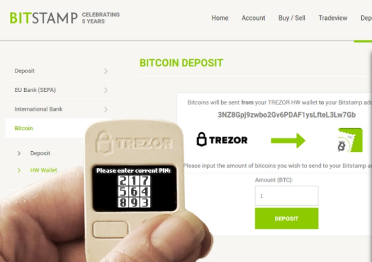 Trezor and Bitstamp