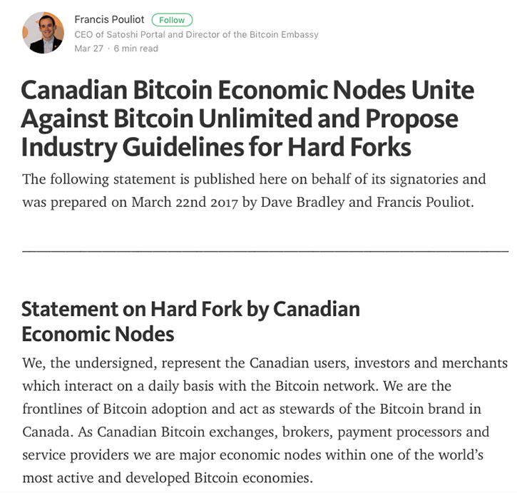 Canadian Bitcoin Economic Nodes