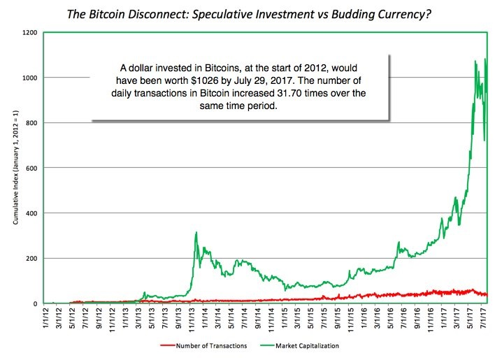 The Bitcoin Disconnect:Speculative Investment vs Budding Currency?