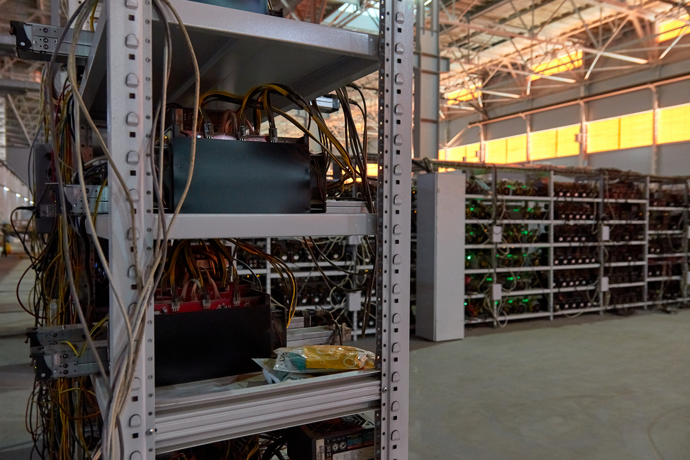 Massive Bitcoin mining farm
