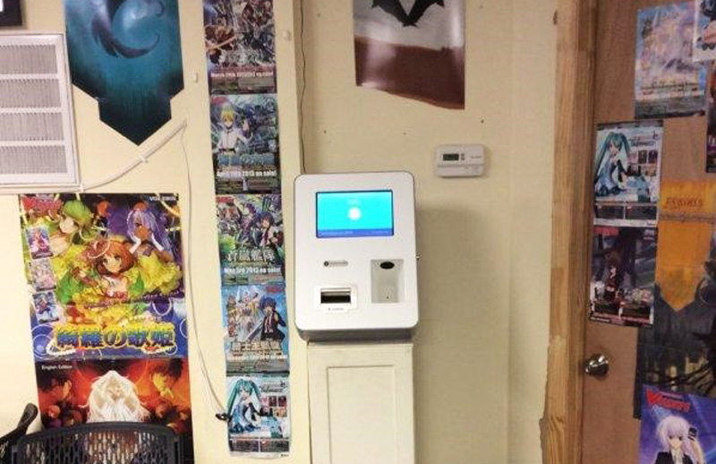 A one-way Lamassu machine that was installed at MultiVerseGamers in Chapel Hill