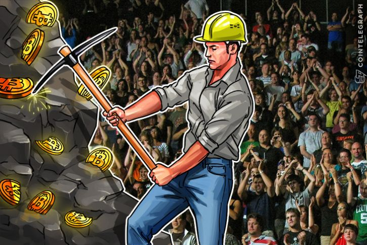 Crypto miner and a crowd