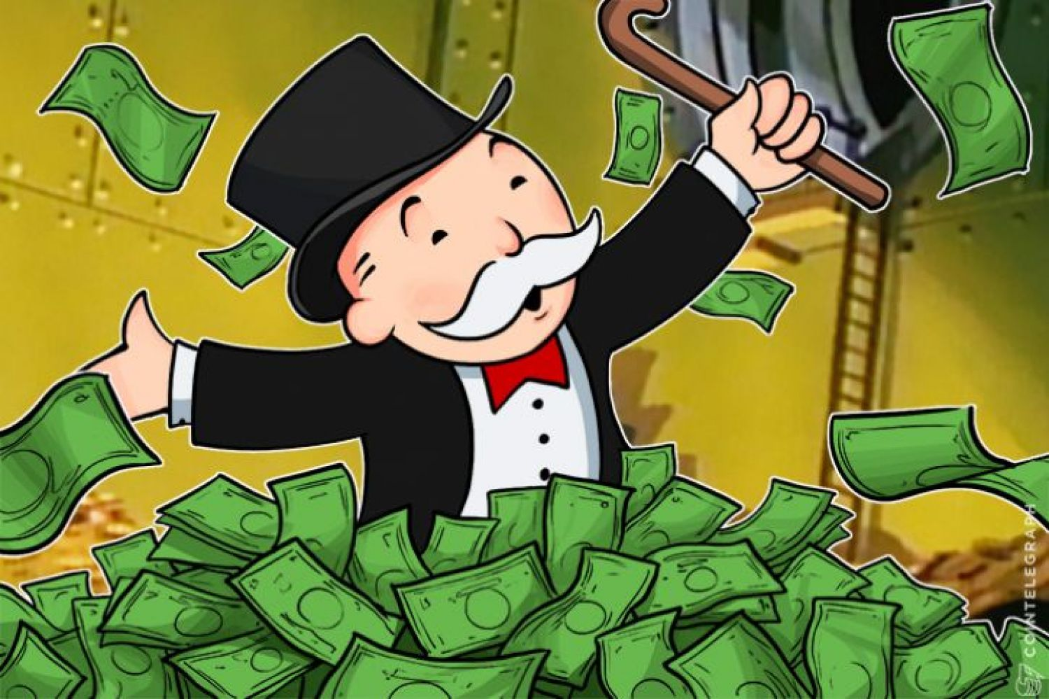 Rich Uncle Pennybags with money