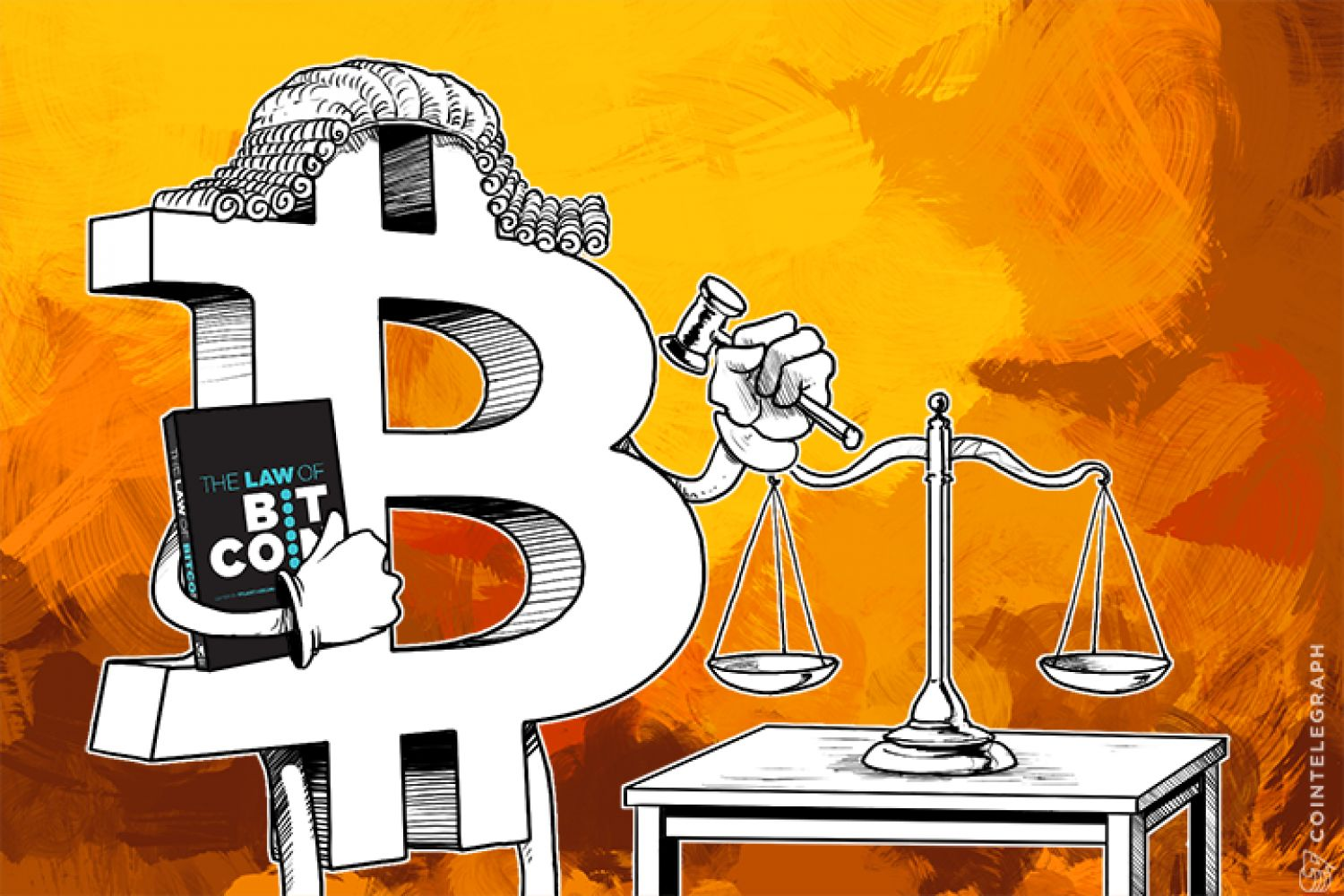 Bitcoin and scales of justice