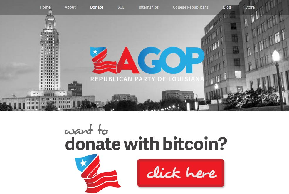 Louisiana Republican Party accept BTC