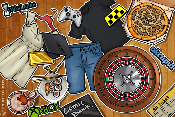 A lot of items you can buy with bitcoins