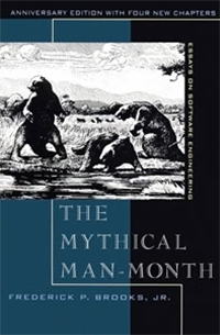 Acerca de la construcción de software: The Mythical Man-Month por Frederick P. Brooks, Jr. (1975)