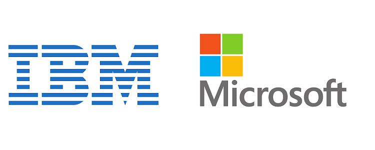 Afbeeldingsresultaat voor microsoft and IBM