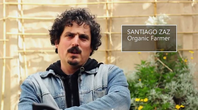Santiago Zaz, a member of the city's community of organic farmers