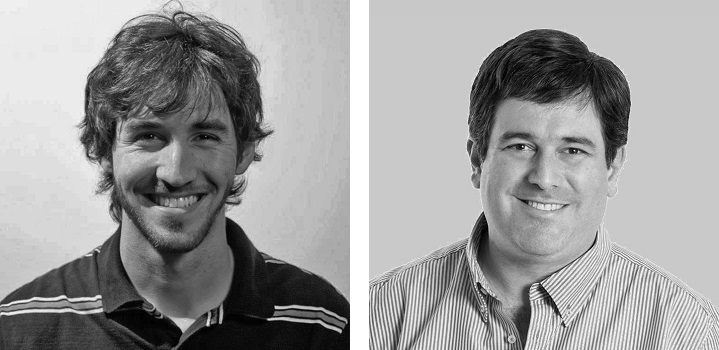 BitCourt founders Federico Bond (left) and Gonzalo Blousson (right)