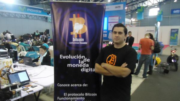 Luis Núñez of the Ecuadorian Bitcoin community