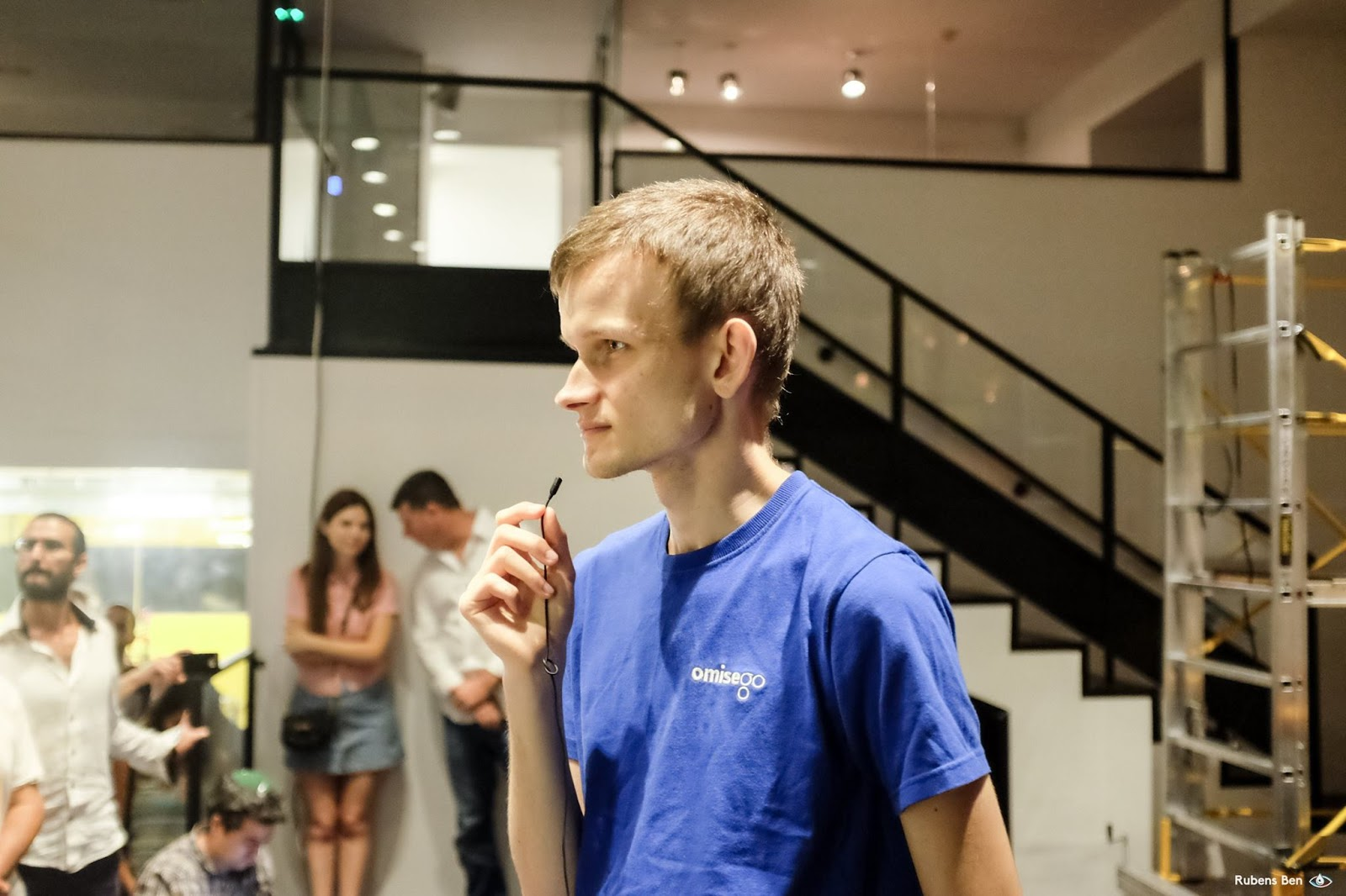 Vitalik Buterin with a microphone