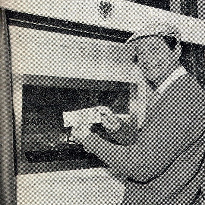 Actor Reg Varney was the first person ever to use a cash machine. Credit: PA Archive