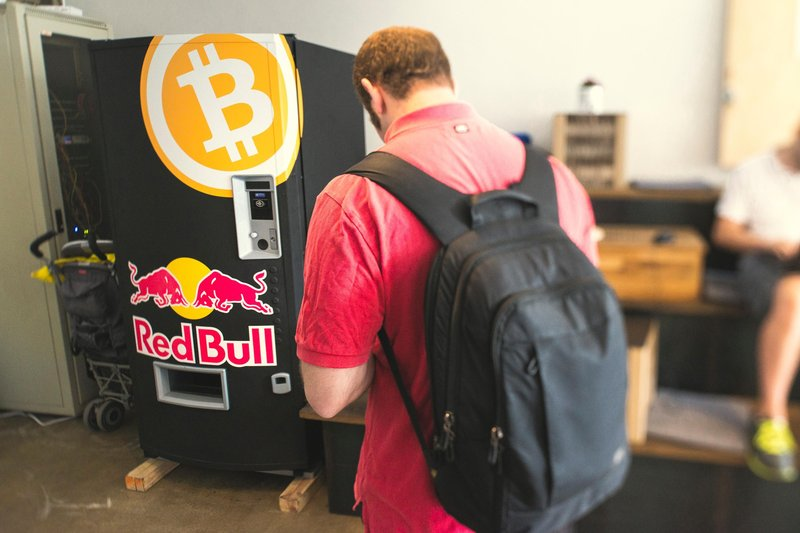 Red Bull Bitcoin vending Machine