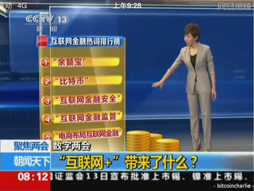 China broadcasts Bitcoin during segment on national TV