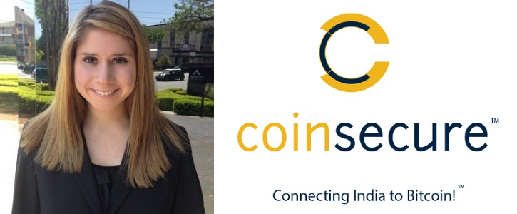 Global Business Development Head at Coinsecure, Elizabeth McCauley