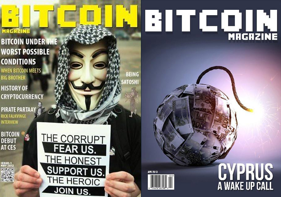 Bitcoin Magazine covers