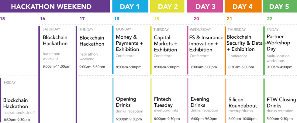 London Fintech Week Schedule