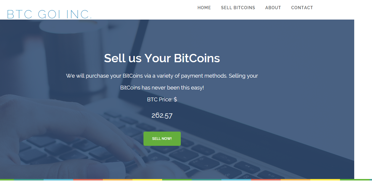 btcgoi homepage screen shot