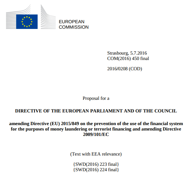 Directive of the European Parliament and of the Council