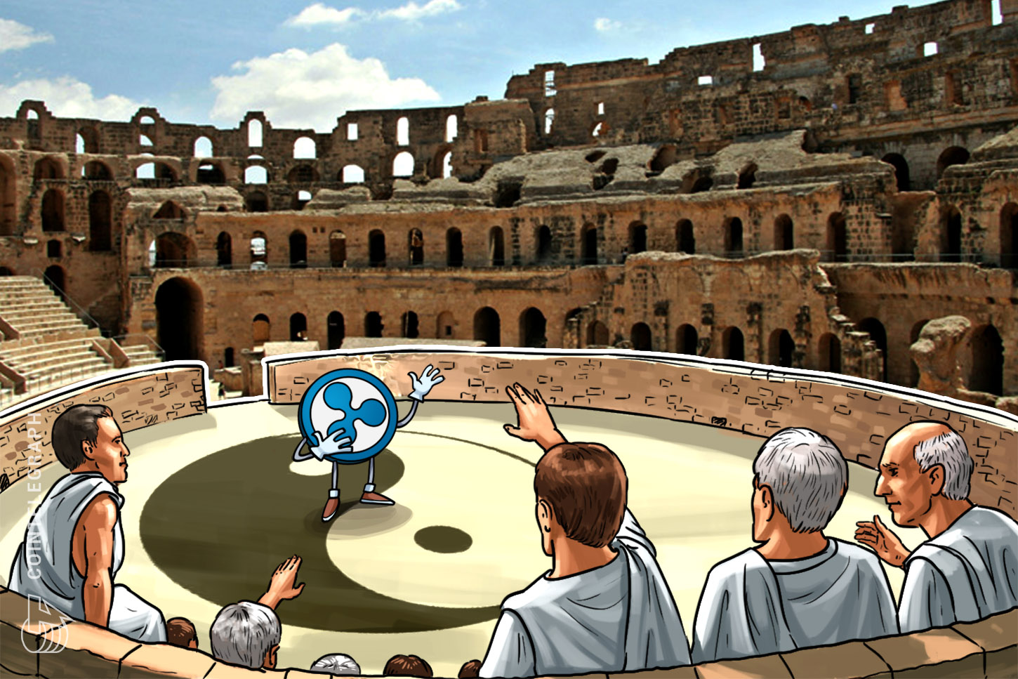 An ancient arena with Ripple