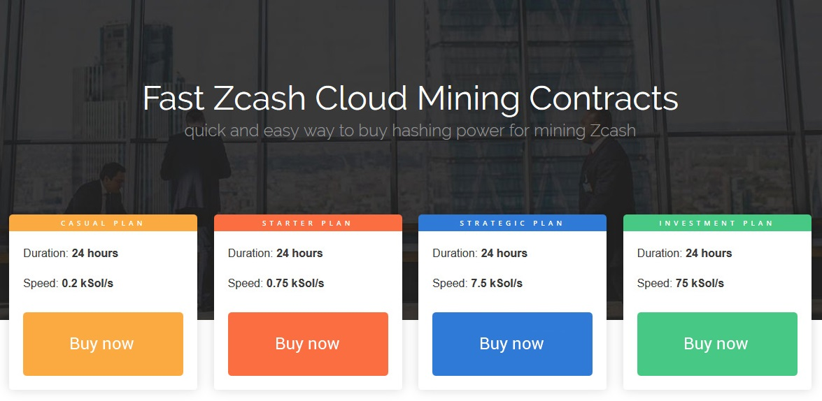 Fast 24h ZCash Cloud Mining Contracts
