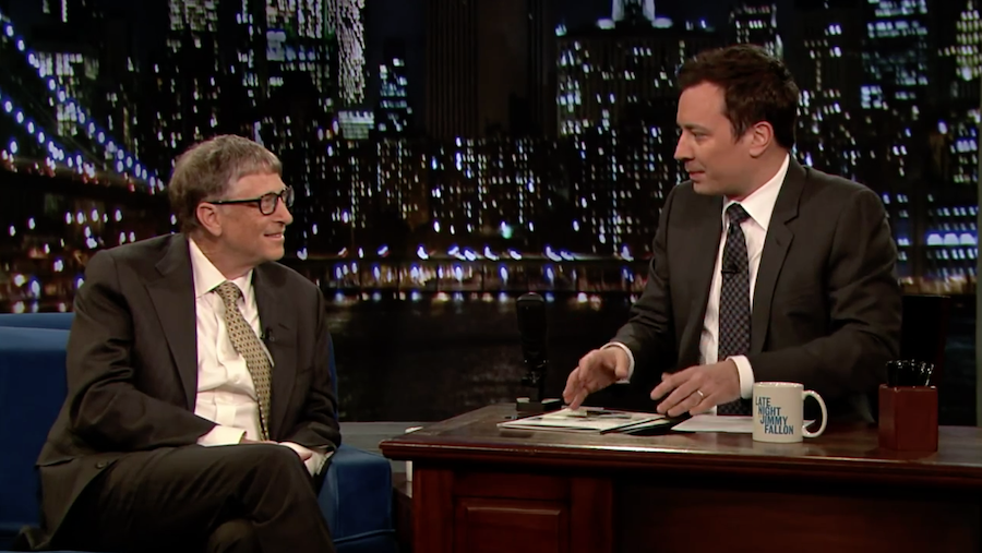 Bill Gates, Speaking to Fallon about the Bill Gates Foundation's work in Africa