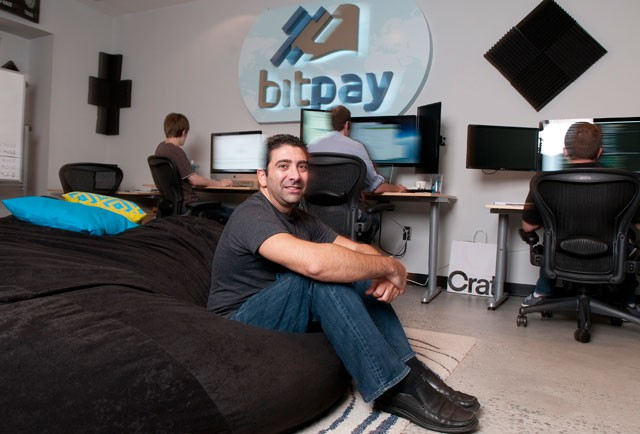 Tony Gallippi at BitPay`s Atlanta Headquarter