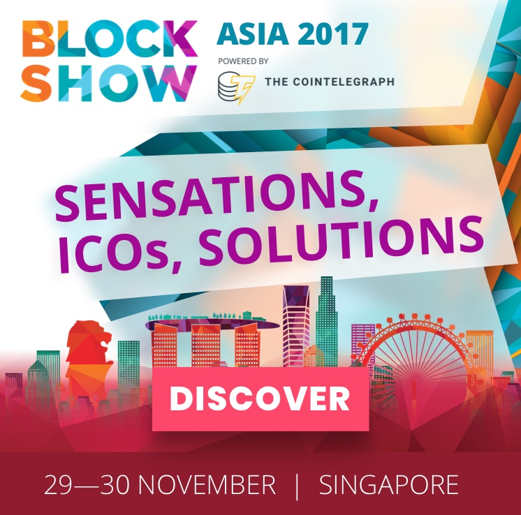BlockShow Asia 2017 Powered by Cointelegraph