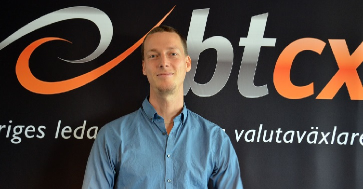 Christian Ander, CEO of Goobit, the owner and operator of BTCX