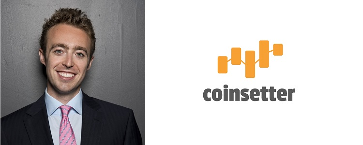 Jaron Lukasiewicz, CEO of Coinsetter