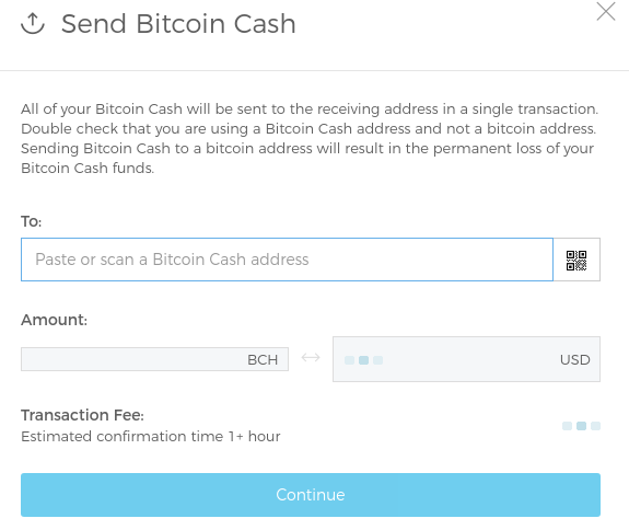 Send Bitcoin Cash