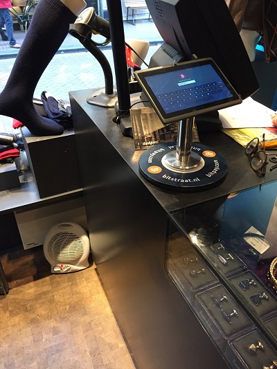 Bitcoin POS terminal at Mensocks