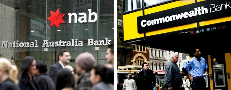 NAB and Commonwealth Bank