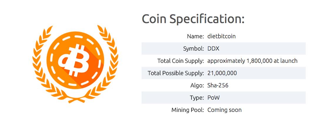 Especificação da moeda