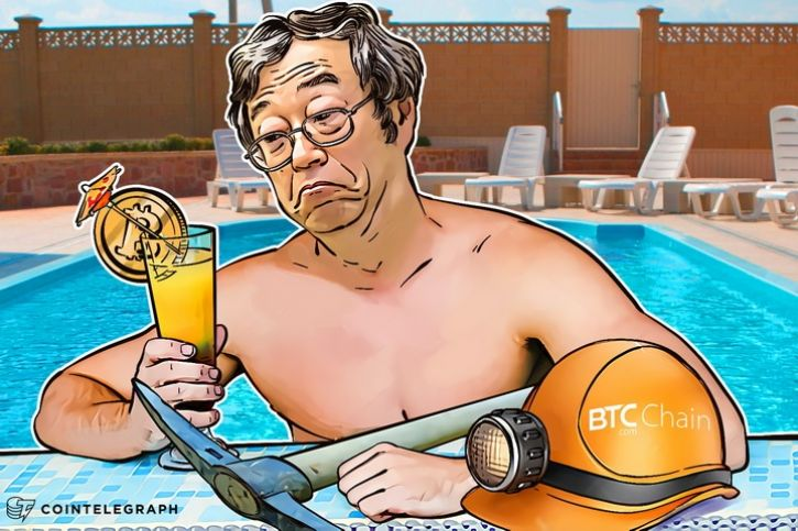 A crypto miner in a pool