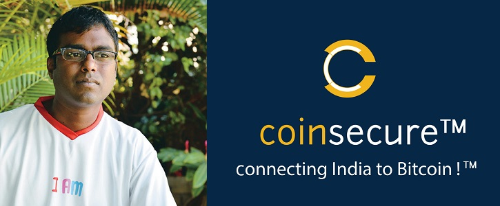 Benson Samuel, CTO  Co-Founder of Coinsecure