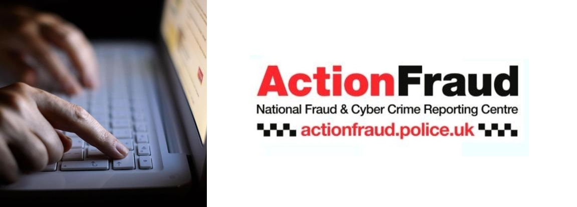 British national fraud and cybercrime reporting center Action Fraud logo